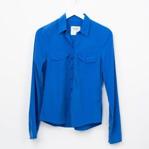 Abercrombie & Fitch Button Down Shirt Blue Top M